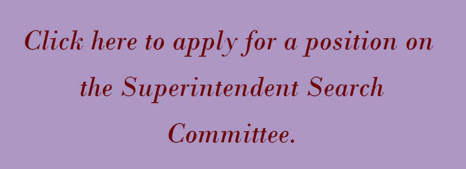 Superintendent Search Committee application